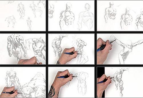 طراحی و نقاشی بدن انسان
