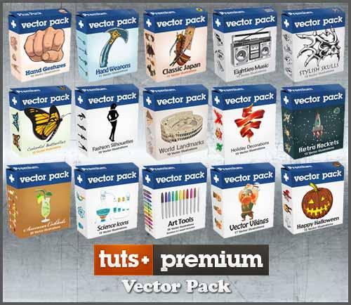 مجموعه وکتورهای گرافیکی Tuts Premium