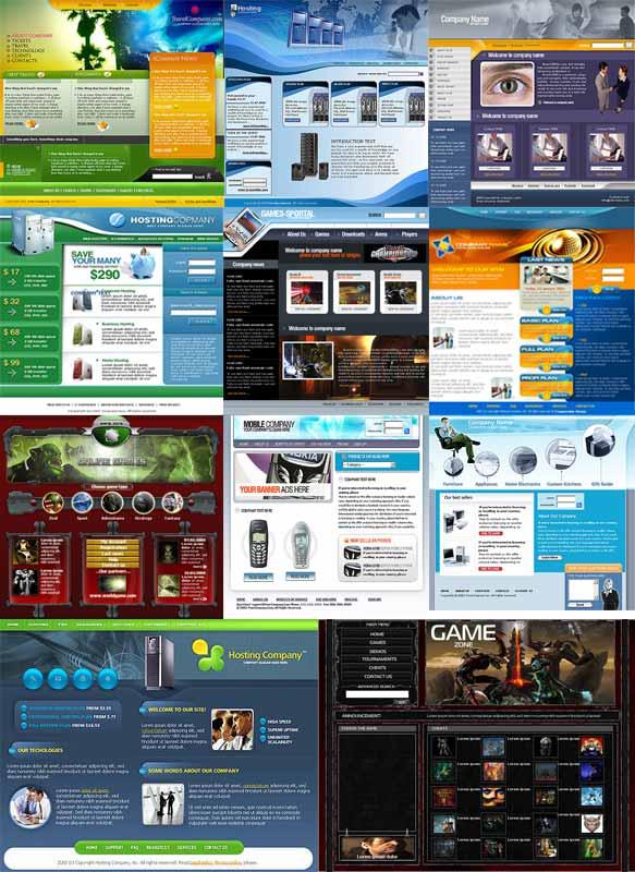 قالب های سایت PSD