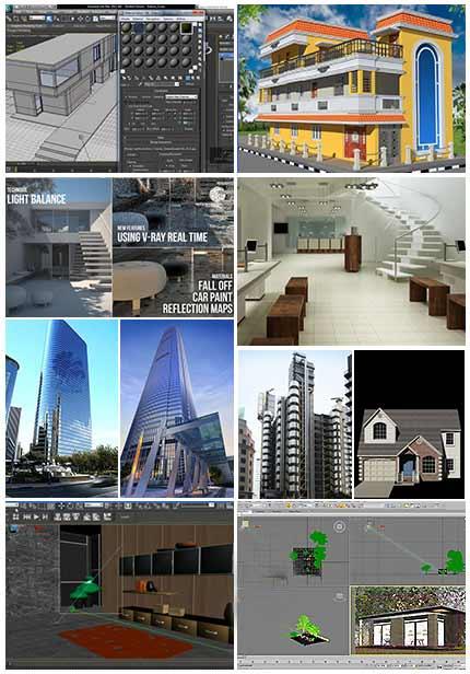 آموزش فارسی جامع تکنیک های تری دی مکس برای معماری