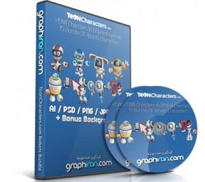 خرید مجموعه عظیم کاراکترهای کارتونی رباتی Tooncharacters.com