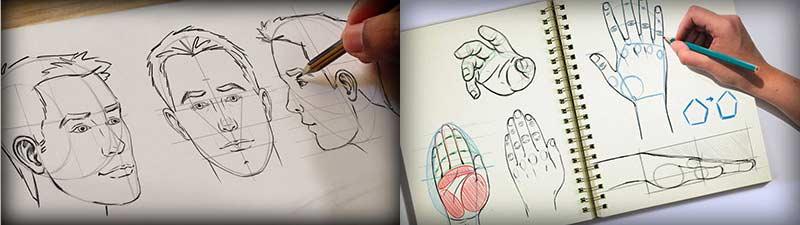 نقاشی صورت انسان با فتوشاپ