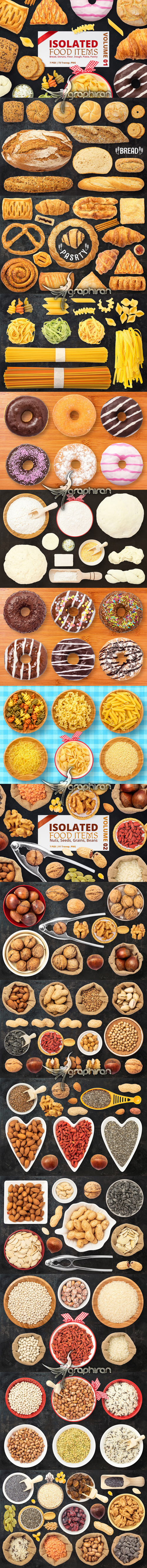 Isolated Food Items + Premade Scenes